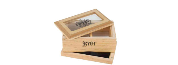 RYOT® Glass Top Shaker Box and  Slim Shaker Box