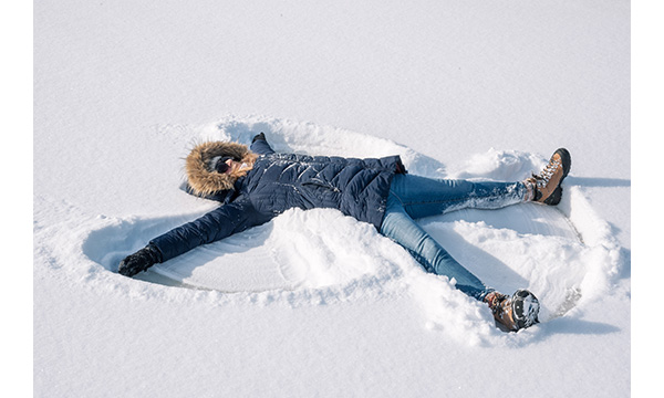 Make snow angels!