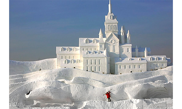 Build a snow fort!